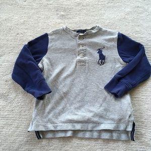 Polo Ralph Lauren Boys Henley Long Sleeve Tee Top